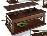 Progressive Furniture P527-15 Landmark Cocktail Table, Brown