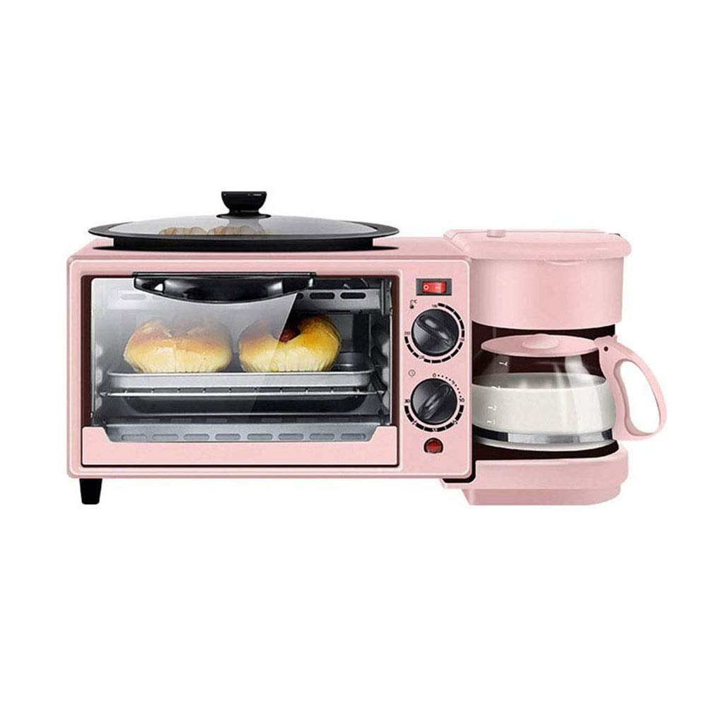 SMLZV Coffee Maker Toaster Oven Griddle 3-in-1 Multi-function Breakfast Center Constant Temperature Baking,High Temperature Corrosion Resistance
