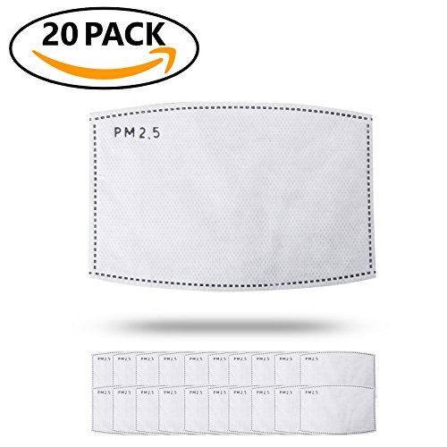 JayJay Pollution Dust Mouth Mask Replaceable PM2.5 Filter 20pcs