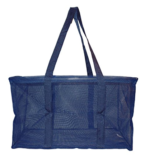 Mesh Ultimate Tote - Carry All Organizer Bag - A Summer Beach Must Have (Navy Blue) (Tote Ultimate)
