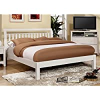 Furniture of America Elena King Platform Bed in White