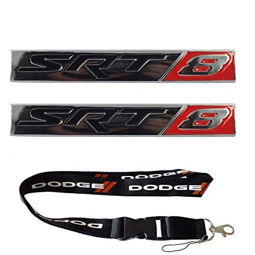 Srt8 Logo Emblem - New 1pcs Dodge Keychain Lanyard Badge Holder + 2pcs set SRT8 Street Racing Technology Emblem Badge Nameplate Logo Decal Rare Fit For Dodge
