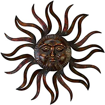deco 79 97918 metal sun wall decor feel every morning more fresh - Sun Wall Decor
