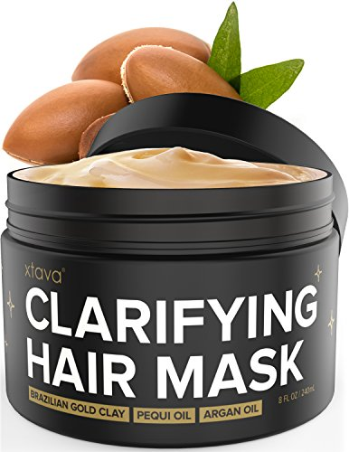 Xtava Clarifying Clay Hair Mask with Argan Oil - 8 Fl.Oz Rep