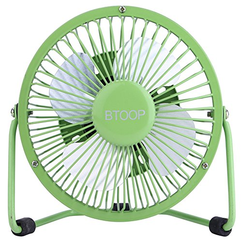 Small Quiet Electric Fans : Btoop usb desk fan mini personal large air flow metal