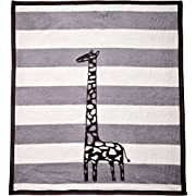 Arus Baby Turkish Cotton Blend Blanket Gray Giraffe 30x40 inches