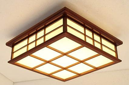 Amazon.com: DEED - Lámpara de techo de madera de caoba para ...