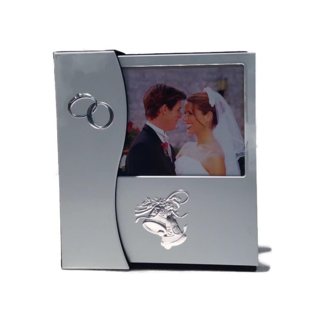 Elegance 61312 Wedding Photo Album in Holder, Silver