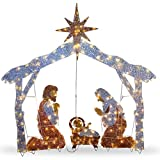 National Tree 72 Inch Crystal Nativity with 250 Clear Mini Lights (DF-250001U)