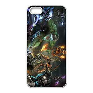 iphone5 5s White phone case All Heroes Dota 2 DOT8682886
