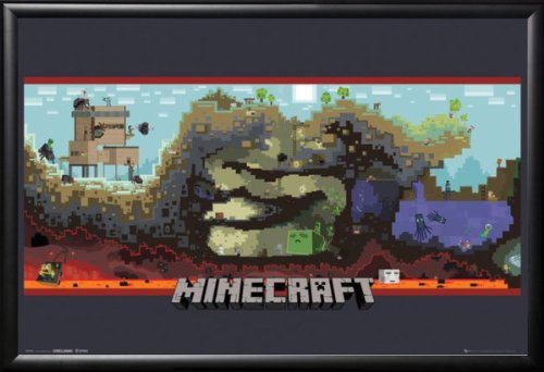Minecraft World Video Game Poster Lamina Framed Poster 36 x