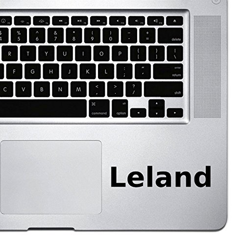 (2x) StickAny Palm Series Leland Sticker for Macbook Pro, Chromebook, and Laptops (Black) Leland Series