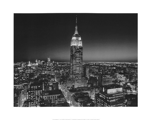 (Empire State Building at Night, New York City by Henri Silberman. Photo Poster Print (19.75 x 15.75) )