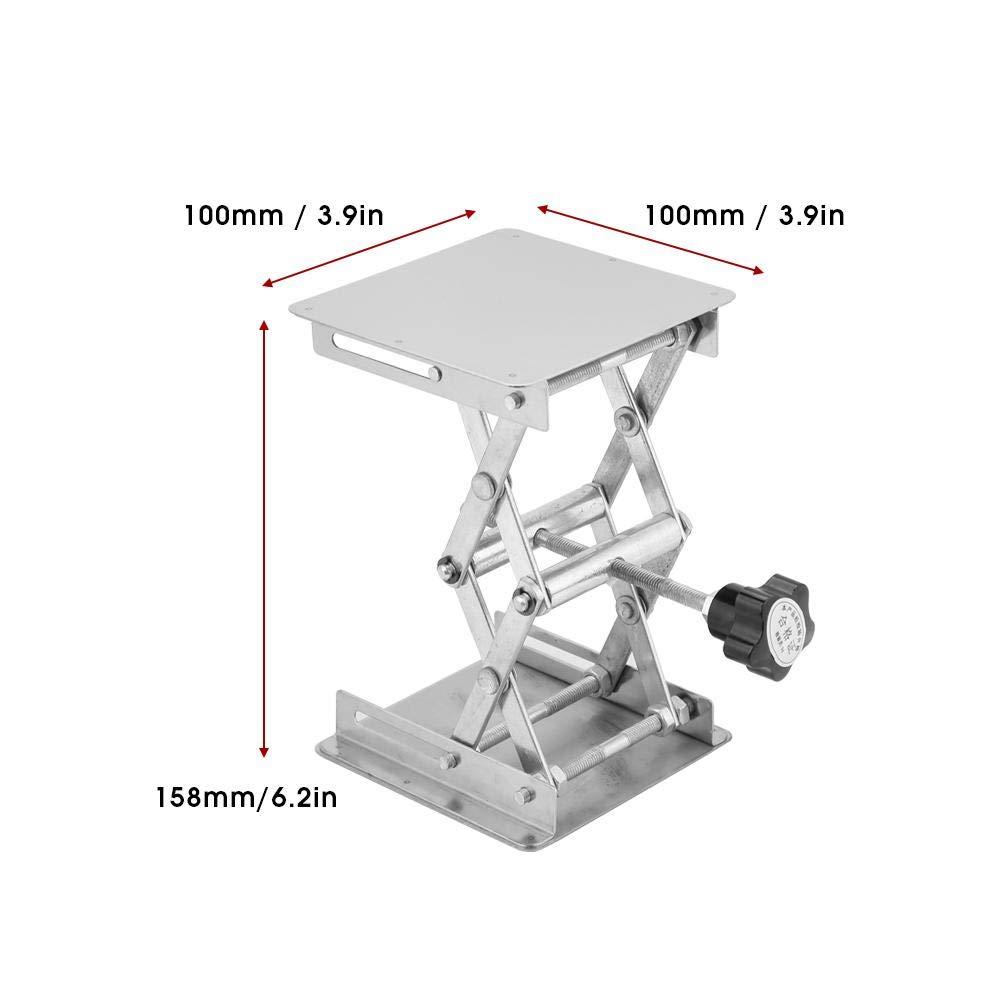 ZJchao Lab Jack,Stainless Steel Lifting Platform Laboratory Lifting Stand Scissor Rack 100100mm
