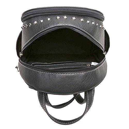 Wallet Biker Purse Black Stud Punk Set Women Sugar Art Set Backpack Skull Fashion Python Rivet Bag Daypack Shoulder YawXUqWA6