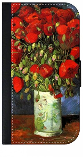 Vincent Van Gogh's Red Poppies in a Vase - TM PU Leather and Suede Case Compatible with the Apple iPad« 2 /iPad« 3/ iPad« 4 Made in the USA