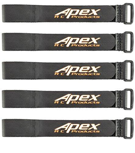 Apex RC Products 5 Pack 20mm x 300mm HD Non-Slip Battery Straps 3031A (Battery Straps Lipo)