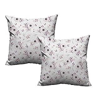 RuppertTextile Simple Pillowcase Anemone Flower Shabby Chic Spring Pattern Blossoming Bridal Bouquets Romantic Mildew Proof 63