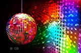 DISCO DANCE Party Disco Ball Groovy Birthday Party Edible Frosting Image 1/2 sheet Cake Topper