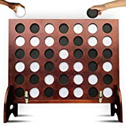 SWOOC Games - Giant Four in a Row (All Weather) Outdoor Game with Carrying Case and Noise Reducing Design - 60