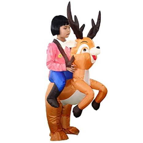 YOWESHOP - Traje Hinchable de Papá Noel para Disfraz de Reno ...