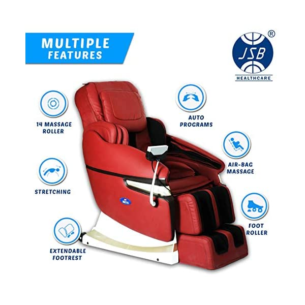 518ChfdviHL JSB MZ15 Full Body Massage Chair with Powerful 3D Back & Leg Massage (Red)