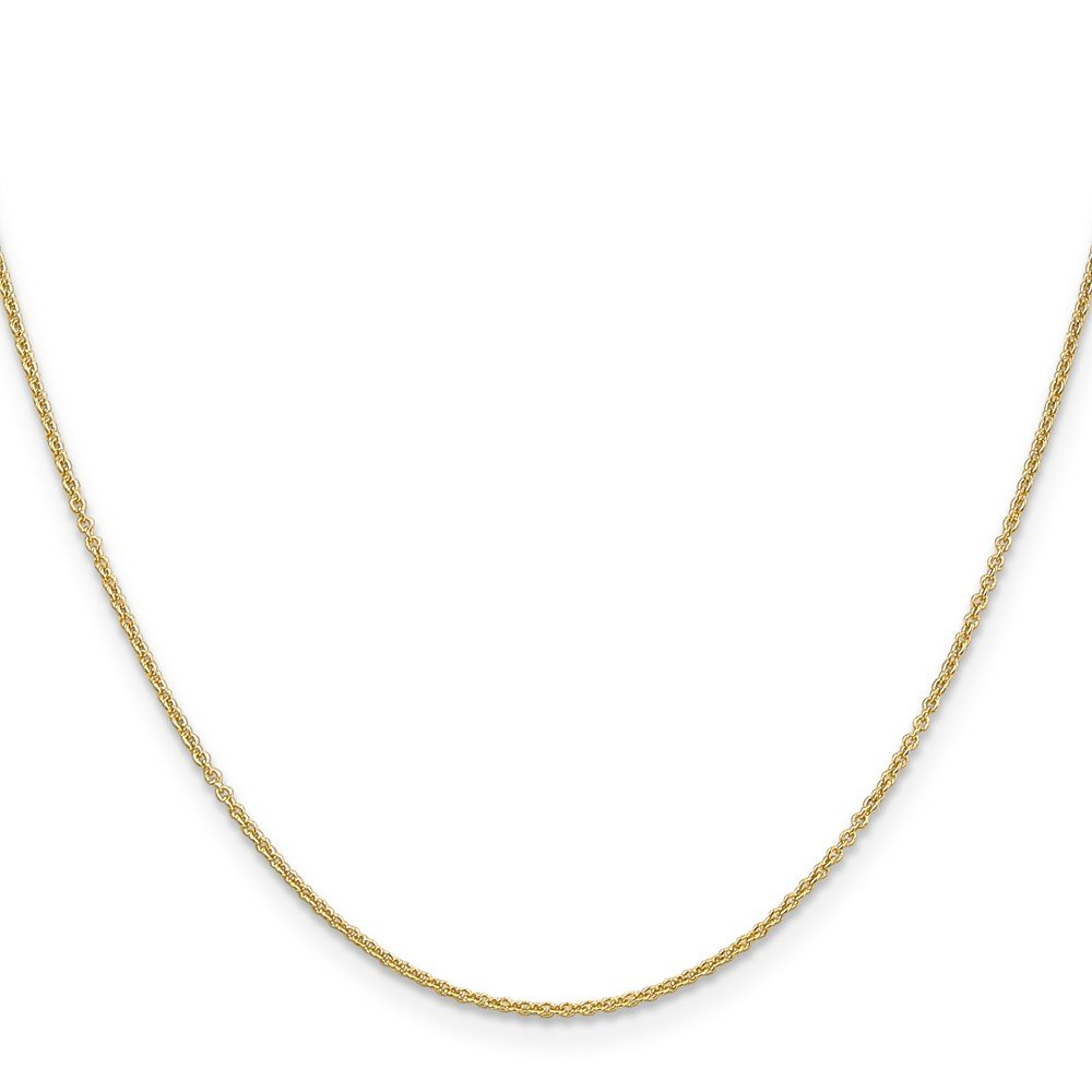 Brilliant Bijou 14k Yellow Gold Cable Chain Necklace
