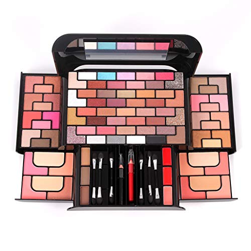 (Euone Home, Sequins Pink Eye Shadow Glitter Shiny Eyeshadow Golden Powder 68 Color)