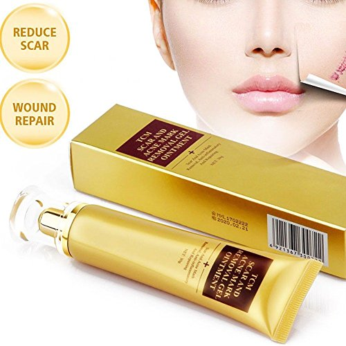 Acne Scar Removal Cream, Skin Repair Cream Scar Cream Gel Scar Treatment for Face and Body Scar Acne Spots Stretch Marks 30ml