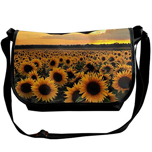 Women's Bag Fashion Travel Black Bag Handbags Field Crossbody Sunflowers Sunset One Shoulder Z7SE1