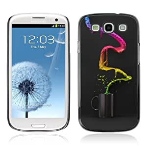 Designer Depo Hard Protection Case for Samsung Galaxy S3 / Cool Colorful Coffee Waterfall