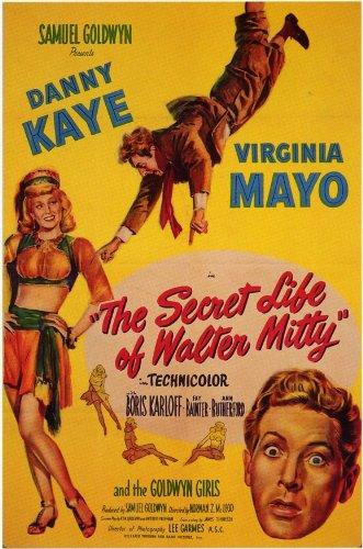 The Secret Life of Walter Mitty Poster Movie Danny Kaye Virginia Mayo Boris Karloff