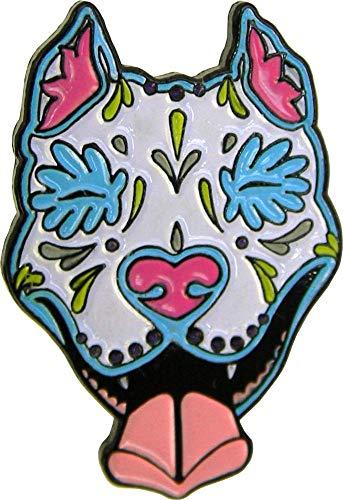 CALI, Pretty in Ink SLOBBERING Pit Bull - Enamel Lapel PIN, Original Artwork, 1.25