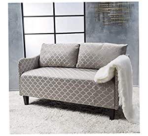 Amazon.com: Wood & Style Home Aurelia Grey Pattern Fabric ...