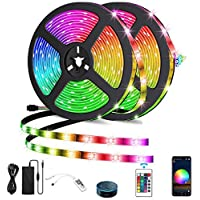 ANNA TOSANI 10M Tira LED WiFi Música RGB Inteligente con Control Remoto, Función Memoria, 300 LEDs 5050, Cinta Multi…