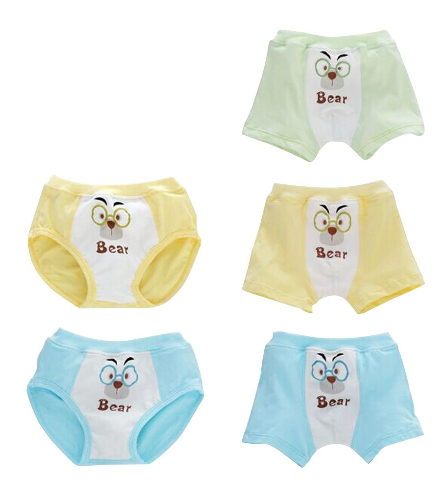 5 Pack Little Boys Glasses Baby Bear Boxers & Briefs Underwear Age 2-3Y