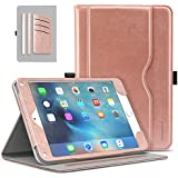 MoKo Case Fit iPad Mini 4 - Slim Folding Stand Folio Cover Case Fit Apple iPad Mini 4 7.9 Inch 2015 Release Tablet with Auto Wake/Sleep and Document Card Slots, Multiple Viewing Angles, Rose Gold