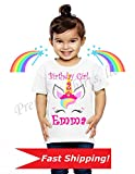 Unicorn Birthday Shirt, Family Birthday Shirts, Unicorn Princess, Unicorn Party Favor, Add ANY name and Age, Unicorn Princess Birthday Shirt, VISIT OUR SHOP!!