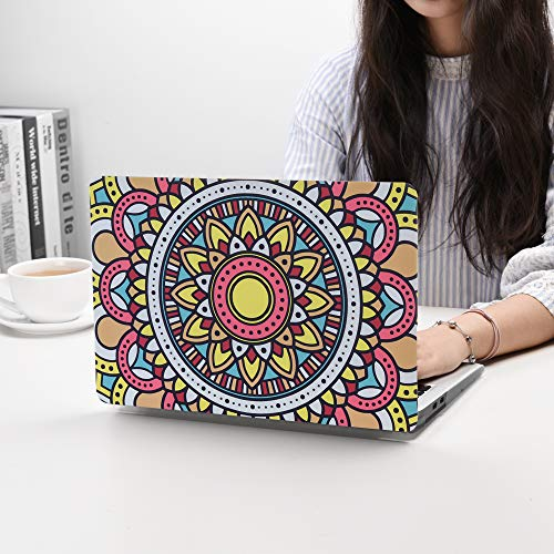 MacBook Pro 13 Inch Case 2019 2018 2017 2016 Release A1706 A1708 A1989 A2159 Ultra Thin Plastic Hard Sleeve Cover & Keyboard Cover & Anti-dust Brush (Bohemian Flower)