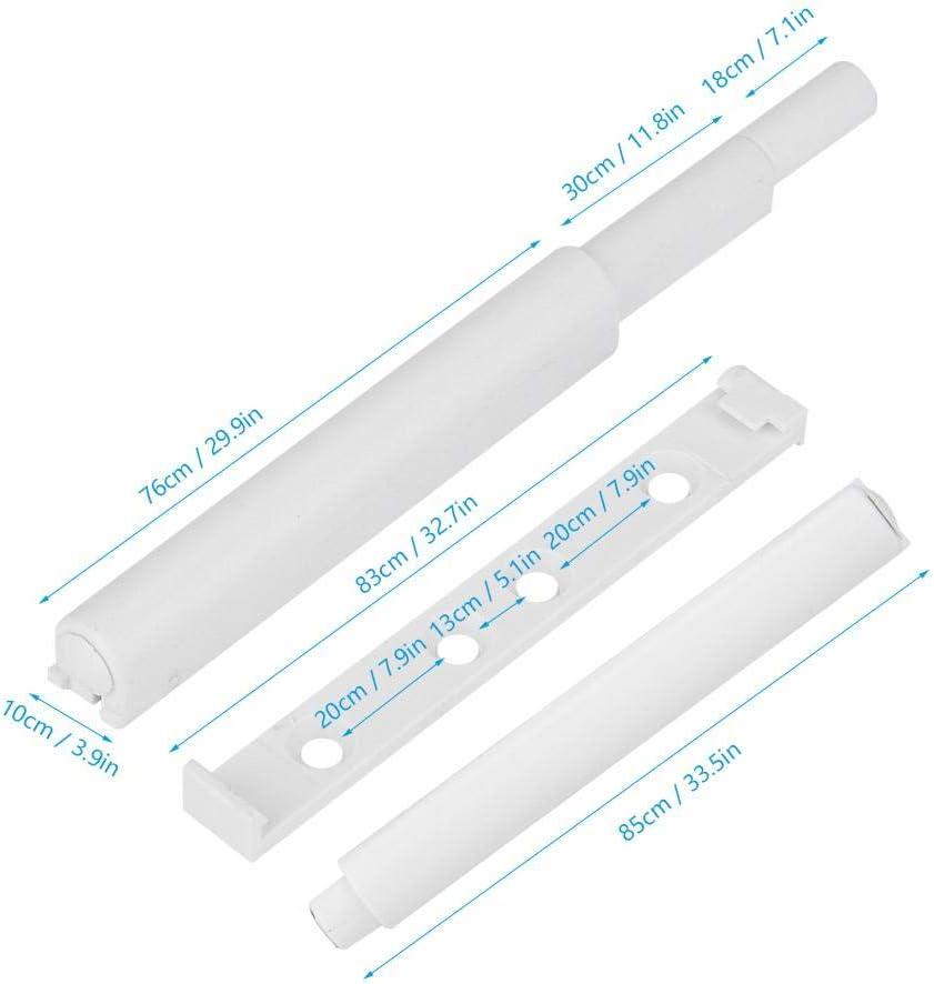 Liukouu 10pcs Abs en Plastique Durable Et Silencieux Amortisseur De Rebond De Porte De Cabinet Blanc