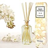 Urban Naturals Tuberose Fragrance Oil Reed Diffuser | Exotic Tuberose and Fragrant Orange Blossom | Floral Aromatherapy Room Perfume with Reeds | USA Made by
