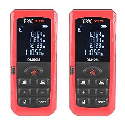 DMiotech DMiotech DM40M Laser Distance Measure Red 131 Feet Mini Portable Handheld Digital Laser Distance Meter Rangefinder Measurer Tape with Bubble Level