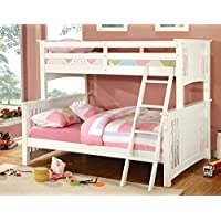 Furniture of America Concord Bunk Bed, Twin/Full, White
