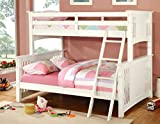 Furniture of America Concord Bunk Bed, Twin/Full, White Review