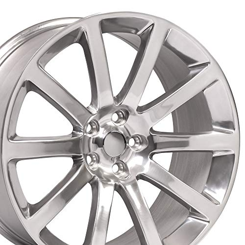 OE Wheels 20 Inch Fits Chrysler 300 Challenger SRT8 Charger SRT8 Magnum 300 SRT Style CL02 Polished 20x9 Rim Hollander 2253