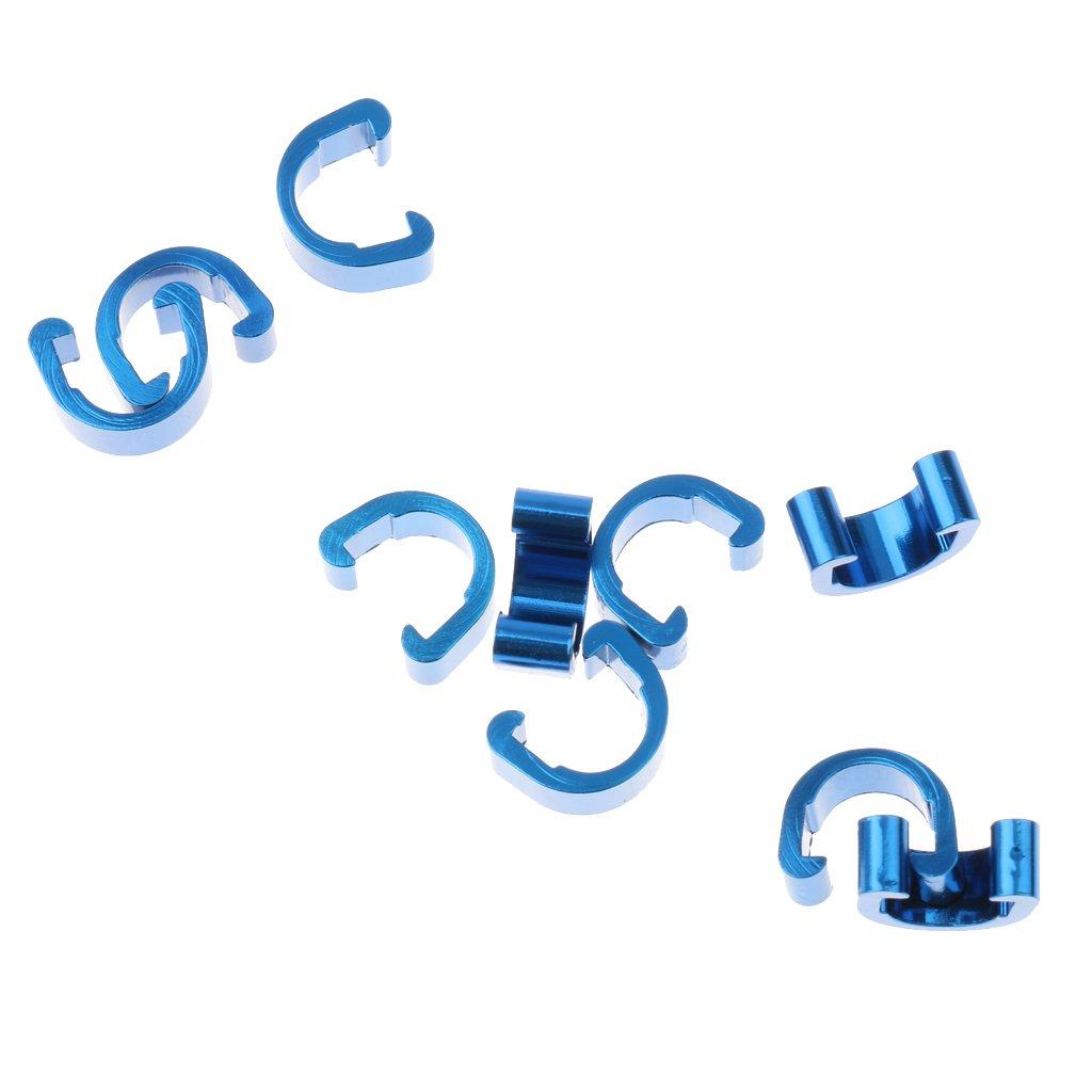 Azul 10pcs Cable Para Bici Del Camino MTB De Manguera Alojamiento Aluminio C Clip De Gu/ía 13mm