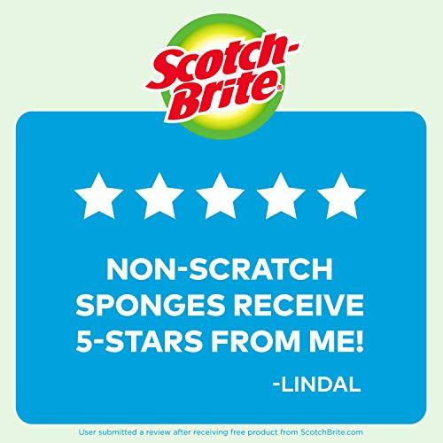 Scotch-Brite Non-Scratch Scrub Sponges, Stands Up to Stuck-on Grime, 6 Scrub Sponges