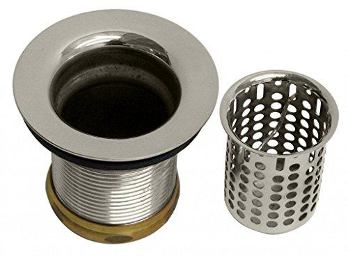 Westbrass Junior Basket Style Bar Strainer, Polished Nickel, D218-05 (Tub Rim Brass Polished)