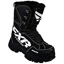 2016 FXR Black and White Men's 10 & Women's 12 X-Cross Snowmobile Winter Boots