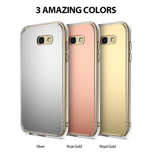 Galaxy A3 2017 Case, Ringke [FUSION MIRROR] Bright Reflection Radiant Luxury Mirror Case [Drop Protection / Shock Absorption Technology] for Samsung Galaxy A3 2017 - Royal Gold Photo #3